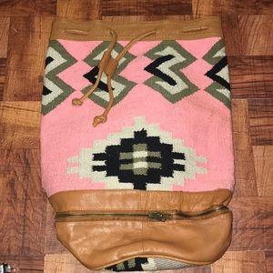 Aztec print  drawstring backpack.